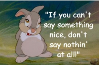 Image result for thumper bambi if you can't say something nice