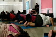 Jessamyn Stanley yoga session on Day 1