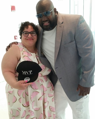With Mo Vaughn, of MVP Collections