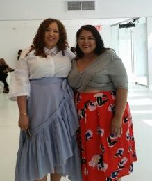 Sandra, blogger at La Pecosa Preciosa and Darlene, blogger at Suits, Heels & Curves