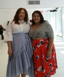 Sandra, blogger at La Pecosa Preciosa and Darlene, blogger at Suits, Heels & Curves