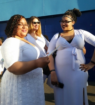 Marlena, blogger at Big City, Curvy Girl, Thin Wallet., Shalee of Shalee Marie Modeling, and Madame Finehouse