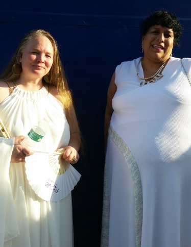 Anna, model & CEO of Sonshine Apparel and Becky, owner of Curvy Chic Closet